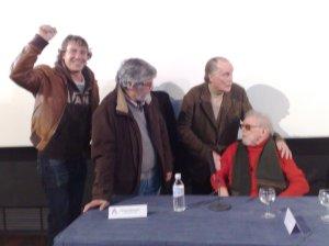 Pedro Temboury, Mayans, Taylor y Jess al final del coloquio