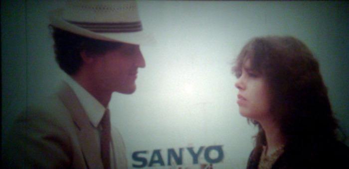 El plano antológico con el cartel de Sanyo.